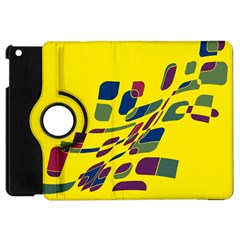 Yellow Abstraction Apple Ipad Mini Flip 360 Case by Valentinaart
