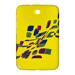 Yellow Abstraction Samsung Galaxy Note 8 0 N5100 Hardshell Case  by Valentinaart