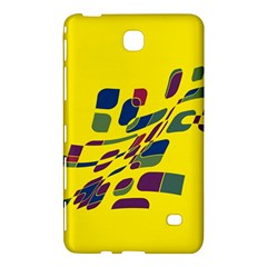 Yellow Abstraction Samsung Galaxy Tab 4 (7 ) Hardshell Case  by Valentinaart