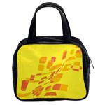 Yellow abstraction Classic Handbags (2 Sides) Front