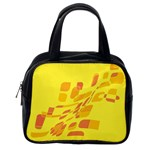 Yellow abstraction Classic Handbags (2 Sides) Back