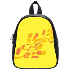 Yellow Abstraction School Bags (small)  by Valentinaart