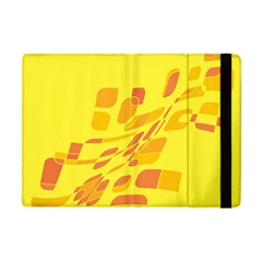 Yellow Abstraction Apple Ipad Mini Flip Case by Valentinaart