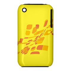 Yellow Abstraction Apple Iphone 3g/3gs Hardshell Case (pc+silicone) by Valentinaart