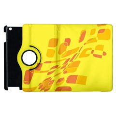 Yellow Abstraction Apple Ipad 2 Flip 360 Case by Valentinaart