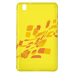Yellow Abstraction Samsung Galaxy Tab Pro 8 4 Hardshell Case by Valentinaart