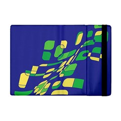 Blue Abstraction Apple Ipad Mini Flip Case by Valentinaart