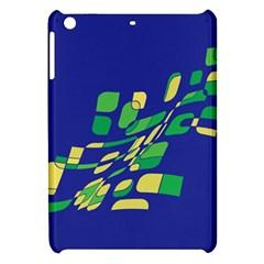 Blue Abstraction Apple Ipad Mini Hardshell Case by Valentinaart