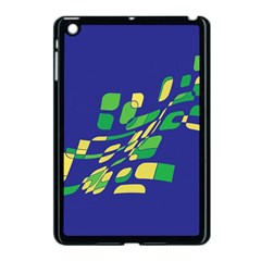 Blue Abstraction Apple Ipad Mini Case (black) by Valentinaart