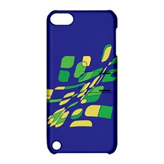 Blue Abstraction Apple Ipod Touch 5 Hardshell Case With Stand by Valentinaart