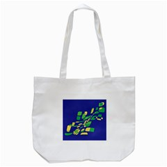 Blue Abstraction Tote Bag (white) by Valentinaart