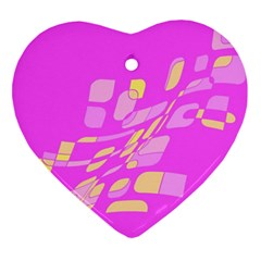 Pink Abstraction Heart Ornament (2 Sides) by Valentinaart