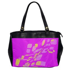 Pink Abstraction Office Handbags by Valentinaart