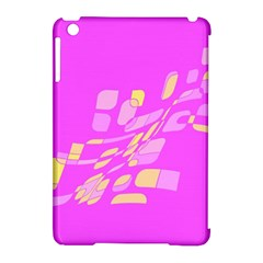 Pink abstraction Apple iPad Mini Hardshell Case (Compatible with Smart Cover) by Valentinaart