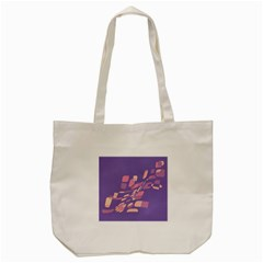 Purple Abstraction Tote Bag (cream) by Valentinaart