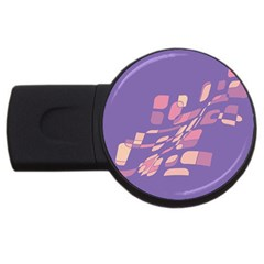 Purple Abstraction Usb Flash Drive Round (4 Gb)  by Valentinaart