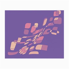 Purple Abstraction Small Glasses Cloth (2 Side) by Valentinaart