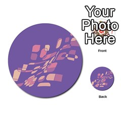 Purple Abstraction Multi Purpose Cards (round)