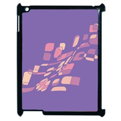Purple Abstraction Apple Ipad 2 Case (black) by Valentinaart