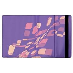 Purple Abstraction Apple Ipad 3/4 Flip Case by Valentinaart