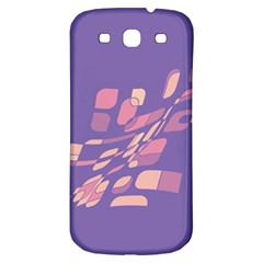 Purple Abstraction Samsung Galaxy S3 S Iii Classic Hardshell Back Case by Valentinaart