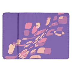Purple Abstraction Samsung Galaxy Tab 8 9  P7300 Flip Case by Valentinaart