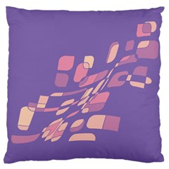 Purple Abstraction Standard Flano Cushion Case (two Sides) by Valentinaart