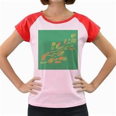 Green Abastraction Women s Cap Sleeve T Shirt by Valentinaart