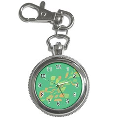 Green Abastraction Key Chain Watches by Valentinaart
