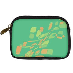 Green Abastraction Digital Camera Cases by Valentinaart