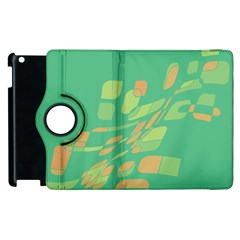 Green Abastraction Apple Ipad 3/4 Flip 360 Case by Valentinaart