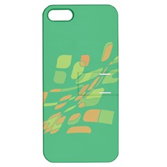 Green Abastraction Apple Iphone 5 Hardshell Case With Stand by Valentinaart