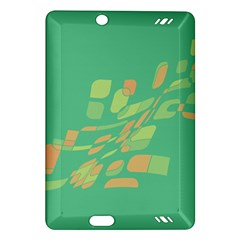 Green Abastraction Amazon Kindle Fire Hd (2013) Hardshell Case by Valentinaart
