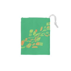 Green Abastraction Drawstring Pouches (xs)  by Valentinaart