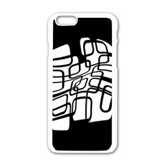White Abstraction Apple Iphone 6/6s White Enamel Case by Valentinaart