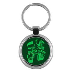 Green Abstraction Key Chains (round)  by Valentinaart