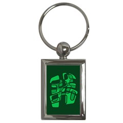 Green Abstraction Key Chains (rectangle)  by Valentinaart
