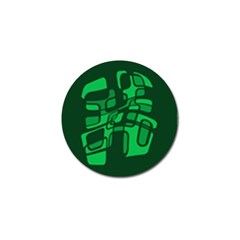 Green Abstraction Golf Ball Marker by Valentinaart