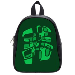 Green Abstraction School Bags (small)  by Valentinaart