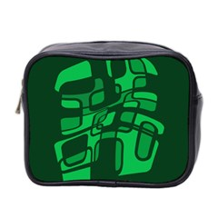 Green abstraction Mini Toiletries Bag 2-Side by Valentinaart