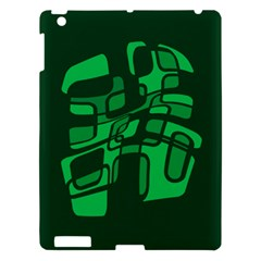 Green Abstraction Apple Ipad 3/4 Hardshell Case by Valentinaart
