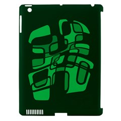 Green Abstraction Apple Ipad 3/4 Hardshell Case (compatible With Smart Cover) by Valentinaart