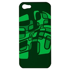 Green Abstraction Apple Iphone 5 Hardshell Case by Valentinaart