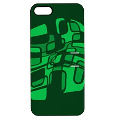 Green Abstraction Apple Iphone 5 Hardshell Case With Stand by Valentinaart