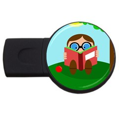 Brainiac Usb Flash Drive Round (4 Gb)  by Valentinaart