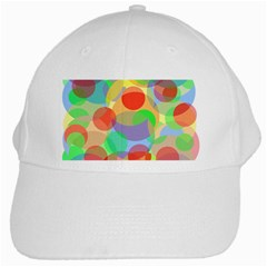 Colorful Circles White Cap by Valentinaart