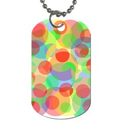Colorful Circles Dog Tag (one Side) by Valentinaart