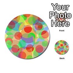 Colorful Circles Multi Purpose Cards (round)  by Valentinaart