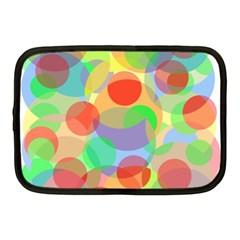 Colorful Circles Netbook Case (medium)  by Valentinaart