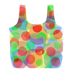 Colorful Circles Full Print Recycle Bags (l)  by Valentinaart